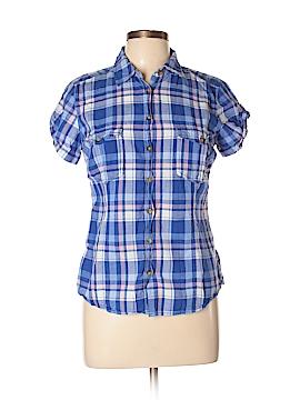 H&M L.O.G.G. Short Sleeve Button-Down Shirt Size 10