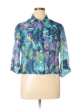 Ruby Rd. Long Sleeve Button-Down Shirt Size 16 (Petite)