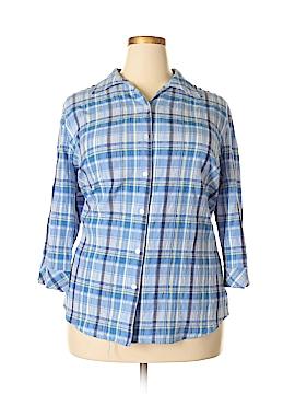 Kim Rogers 3/4 Sleeve Button-Down Shirt Size 22 (Plus)