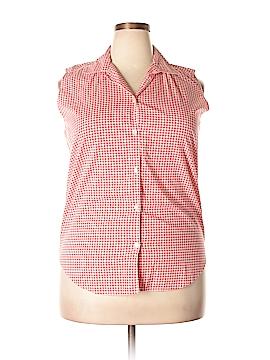Basic Editions Sleeveless Button-Down Shirt Size 18w (Plus)