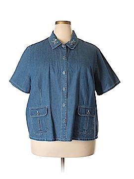 Bobbie Brooks Short Sleeve Button-Down Shirt Size 26 (Plus)