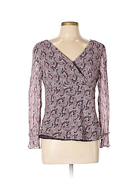 Ann Taylor Factory Long Sleeve Silk Top Size 12