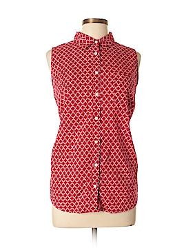 St. John's Bay Sleeveless Button-Down Shirt Size XL