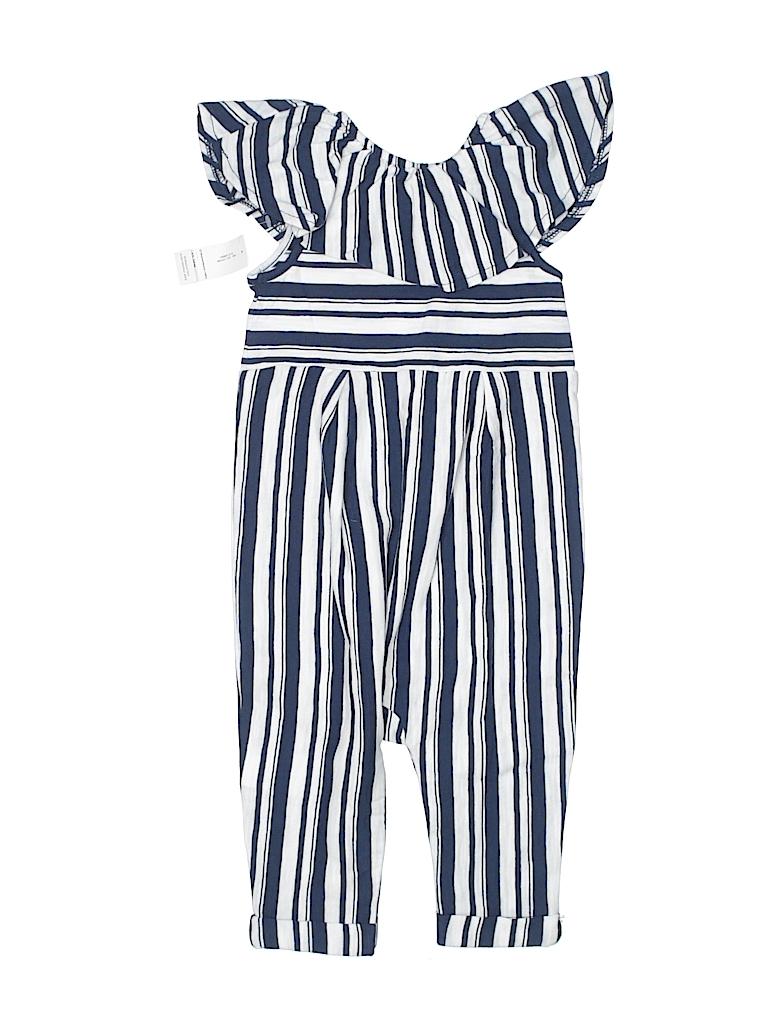 Old Navy 100 Cotton Stripes Navy Blue Jumpsuit Size 12 18 Mo 60