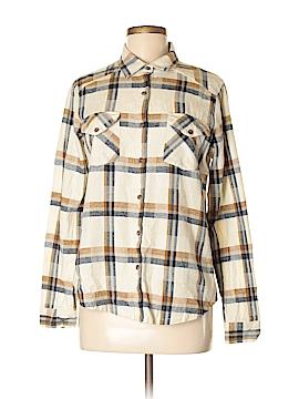 RVCA Long Sleeve Button-Down Shirt Size M
