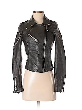Zara TRF Faux Leather Jacket Size XS