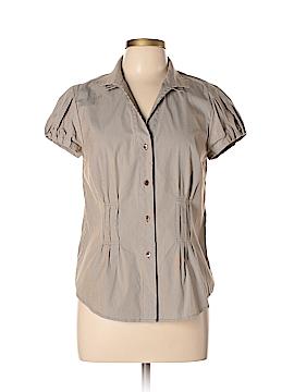 Doncaster Short Sleeve Button-Down Shirt Size 12