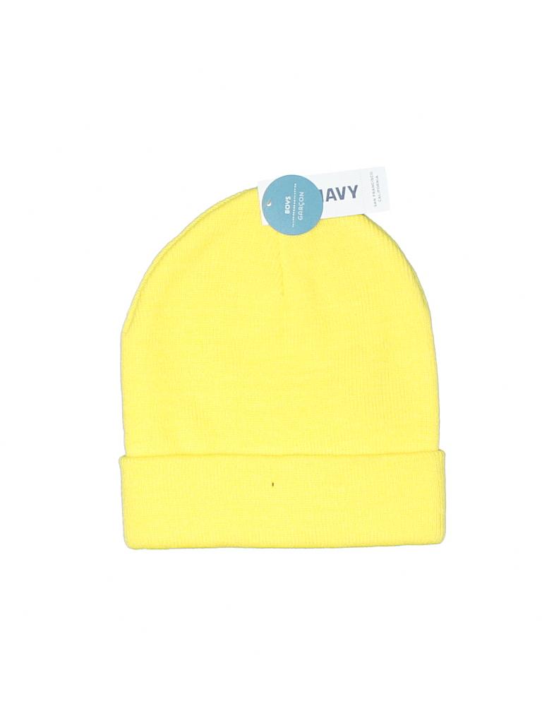 69c028ddad34e2 Old Navy 100% Acrylic Solid Yellow Beanie Size Small kids - Medium ...