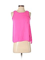 Pink Rose Women Sleeveless Blouse Size XS