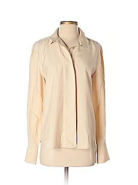 Linda Allard Ellen Tracy Long Sleeve Silk Top Size 2