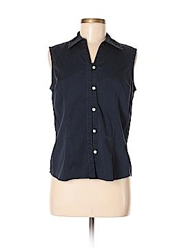 Van Heusen Sleeveless Button-Down Shirt Size M