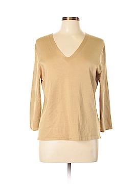 Josephine Chaus Long Sleeve Silk Top Size L