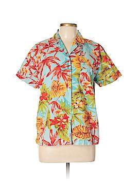 Sag Harbor Short Sleeve Button-Down Shirt Size M