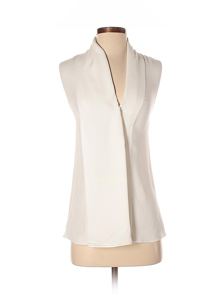 0b5d7de87cf92 Derek Lam 100% Silk Ivory Sleeveless Silk Top Size 8 - 81% off