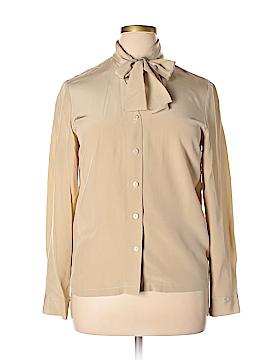 Josephine Chaus Long Sleeve Silk Top Size 14