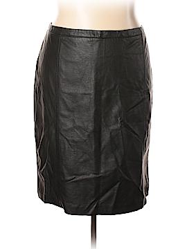 Worthington Faux Leather Skirt Size 24W (Plus)