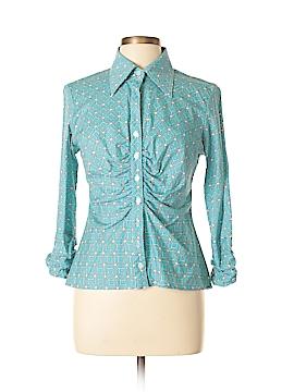 Finley 3/4 Sleeve Button-Down Shirt Size L