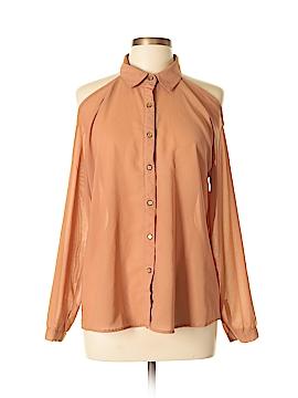Dizzy Lizzy Long Sleeve Button-Down Shirt Size L