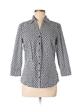 Como 3/4 Sleeve Button-Down Shirt Size L