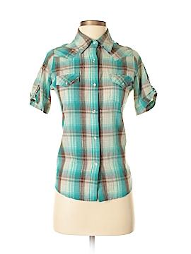 Wrangler Jeans Co Short Sleeve Button-Down Shirt Size S