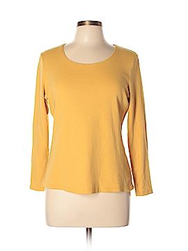 Karen Scott Long Sleeve T-Shirt Size L (Petite)