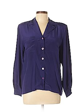 Harve Benard by Benard Haltzman Long Sleeve Silk Top Size 8