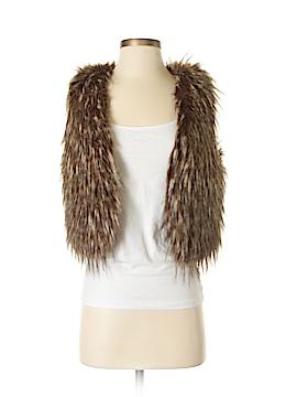 Rezrekshn by Esther Chen Faux Fur Vest Size XS