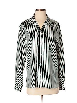 Cappagallo Long Sleeve Silk Top Size S