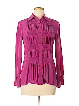 S&D Long Sleeve Silk Top Size M