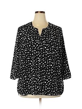 Kim Rogers 3/4 Sleeve Blouse Size 3X (Plus)