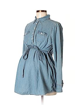 Liz Lange Maternity for Target Long Sleeve Button-Down Shirt Size M (Maternity)