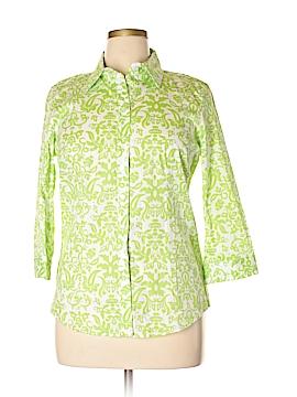 Chadwicks 3/4 Sleeve Button-Down Shirt Size 16