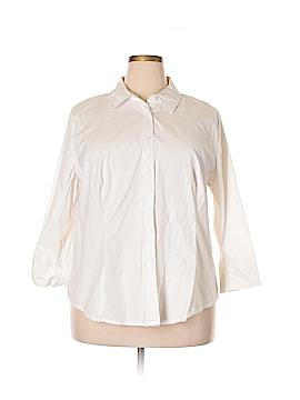 Jessica London 3/4 Sleeve Button-Down Shirt Size 22 - 24 (Plus)