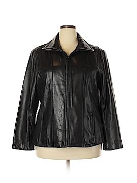 Jones New York Leather Jacket Size 2X (Plus)