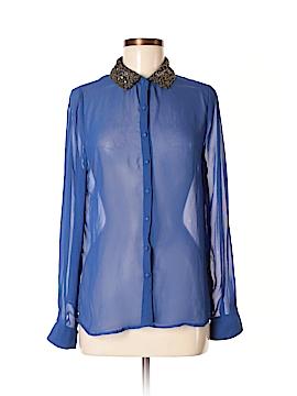 Edge Long Sleeve Blouse Size L