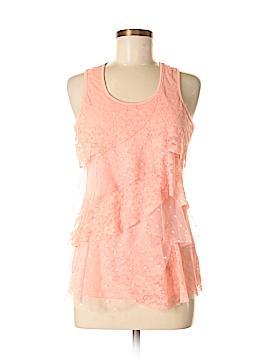 Pink Rose Sleeveless Top Size M