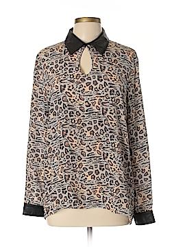 Dora Landa Long Sleeve Silk Top Size L
