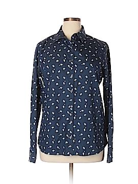 Lands' End Long Sleeve Button-Down Shirt Size 16 (Tall)