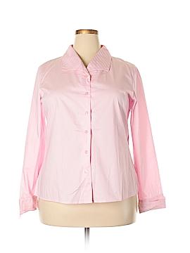 Dialogue Long Sleeve Button-Down Shirt Size 18 (Plus)