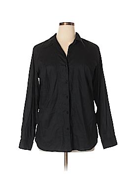 Venezia Long Sleeve Button-Down Shirt Size 14 - 16 Plus (Plus)