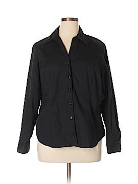 Nine West Long Sleeve Button-Down Shirt Size 16