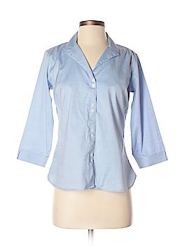 Eddie Bauer 3/4 Sleeve Button-Down Shirt Size S (Petite)