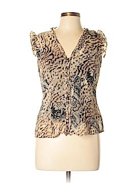 City Silk Short Sleeve Silk Top Size 8