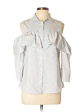 Worthington 3/4 Sleeve Button-Down Shirt Size M