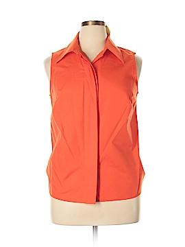 Ashley Stewart Sleeveless Button-Down Shirt Size 14