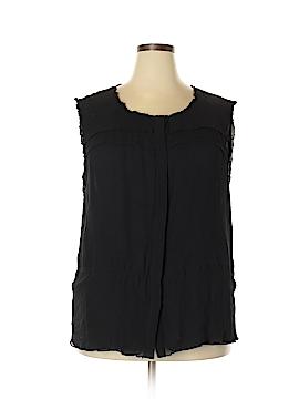 INC International Concepts Sleeveless Silk Top Size 24 (Plus)