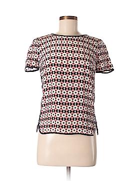 J. Crew Short Sleeve Silk Top Size 0 (Petite)
