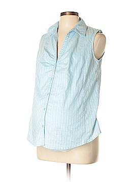 Liz Lange Maternity Short Sleeve Button-Down Shirt Size M (Maternity)