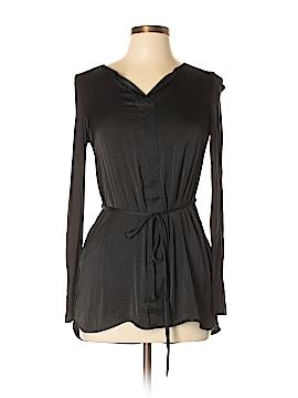 Simply Vera Vera Wang Long Sleeve Silk Top Size XS