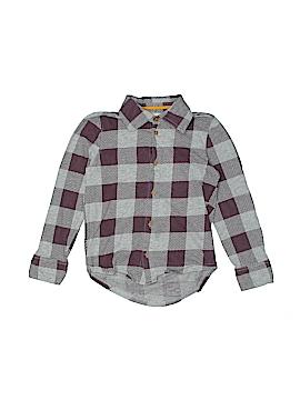 Burt's Bees Kids Long Sleeve Button-Down Shirt Size 5